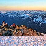 Dinner and laughs on the summit of Conybeare
