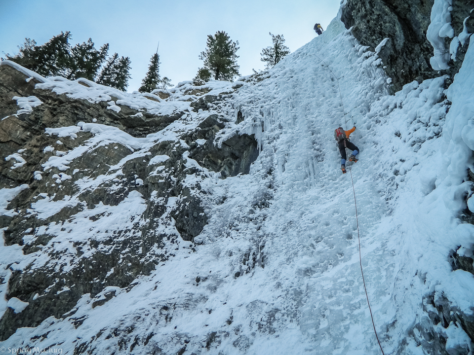 Ice Climbing Canmore
