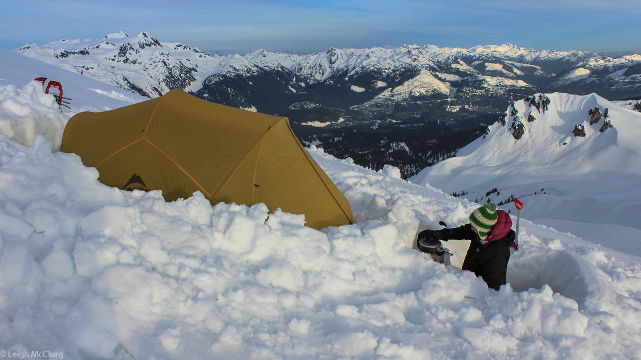 Our first time camping near the summit of a mountain. With this trip we firmly resolved to camp high in the mountains from then on rather than low and in the trees.