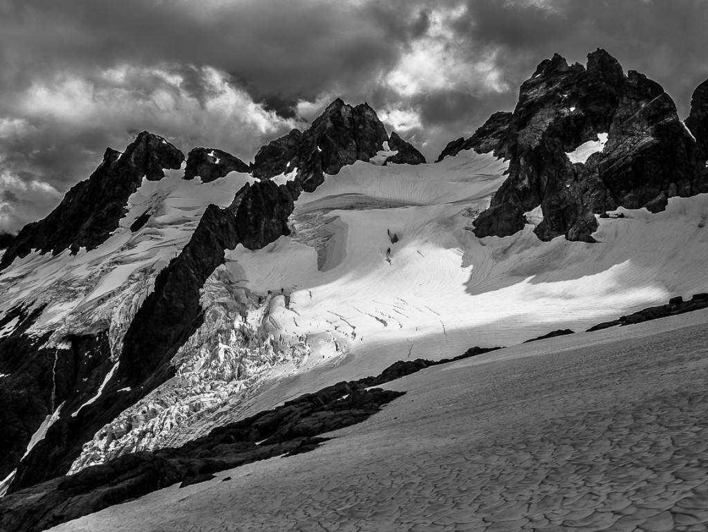 Just a few of the jagged, seldom visited, peaks of the Tantalus Range.