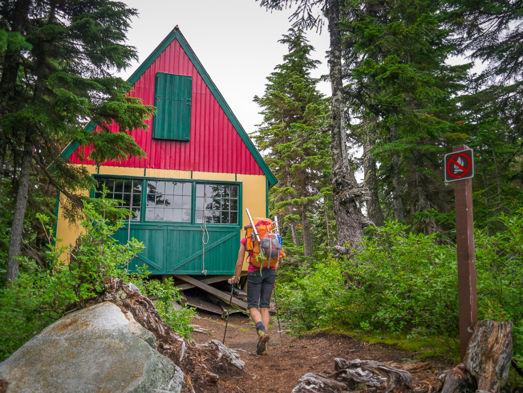 Arriving at the Tantalus Hut