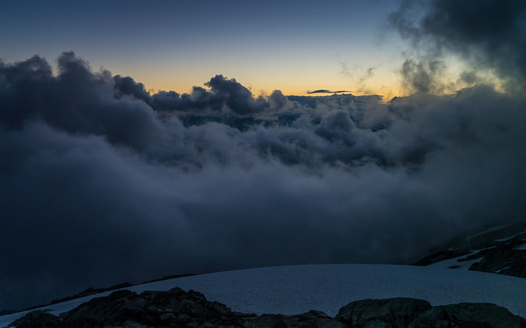 Trapped above the clouds