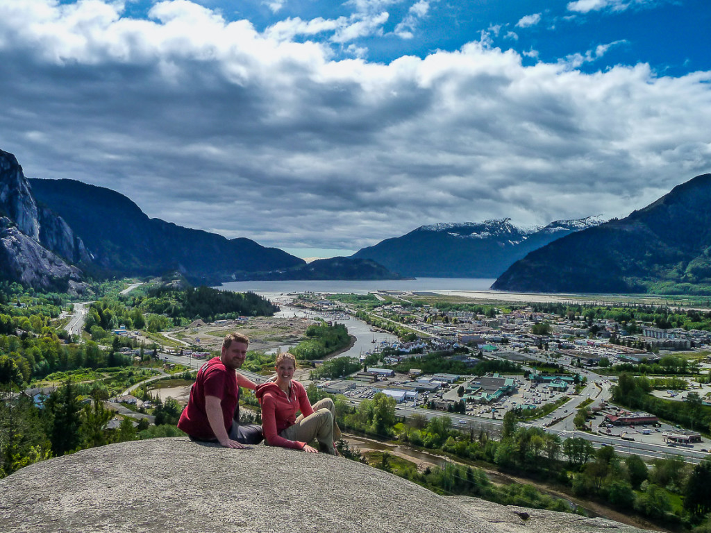 Our first viewpoint in Squamish