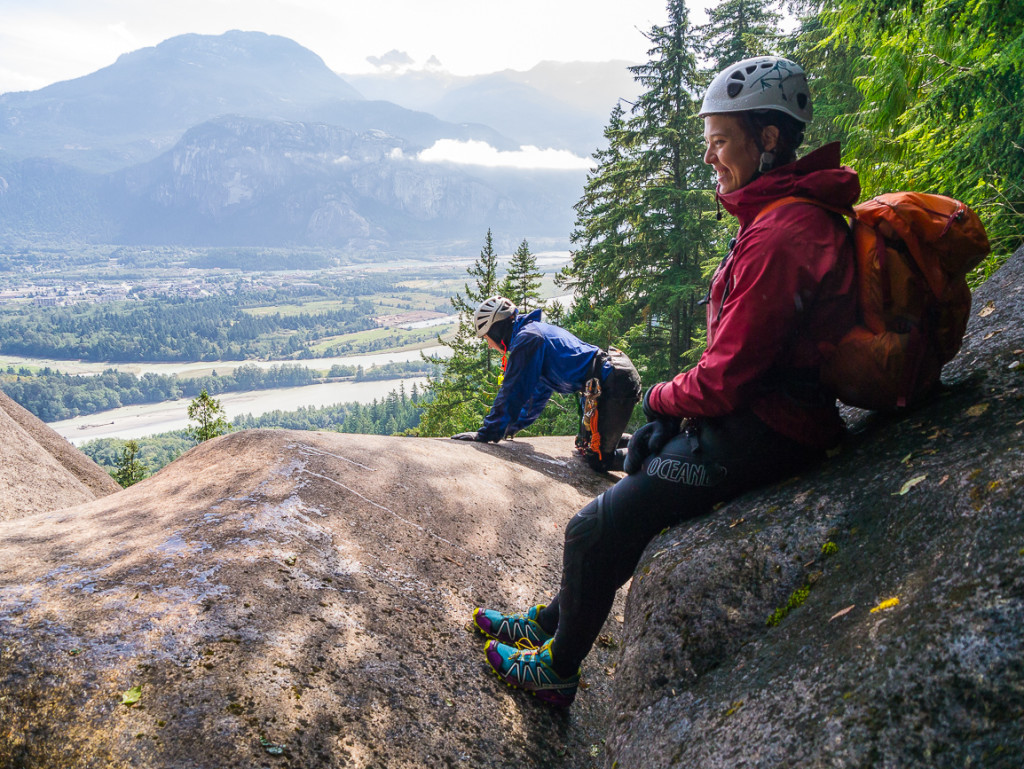A snack break with a view of Squamish