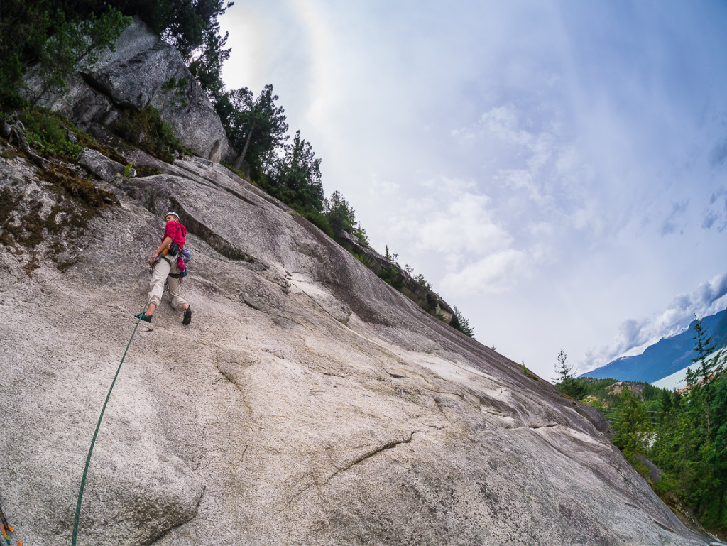 Spring leading the 3rd pitch on Rambles