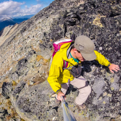 Scrambling Blackcomb Peak