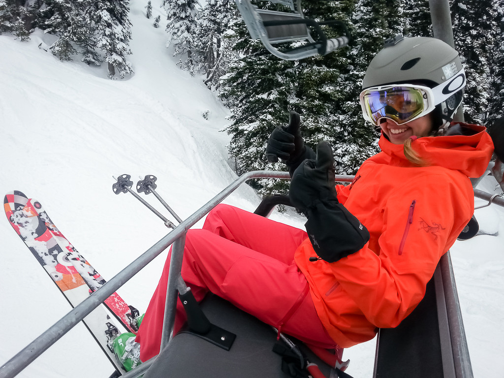 Riding the lifts on Blackcomb Mountain