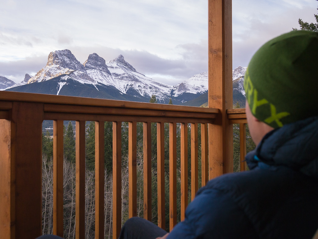 Watching the clouds over the Three Sisters from the Boswell Cabin