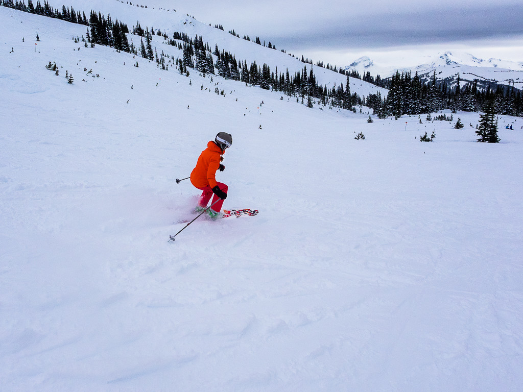 Skiing on Blackcomb Mountain