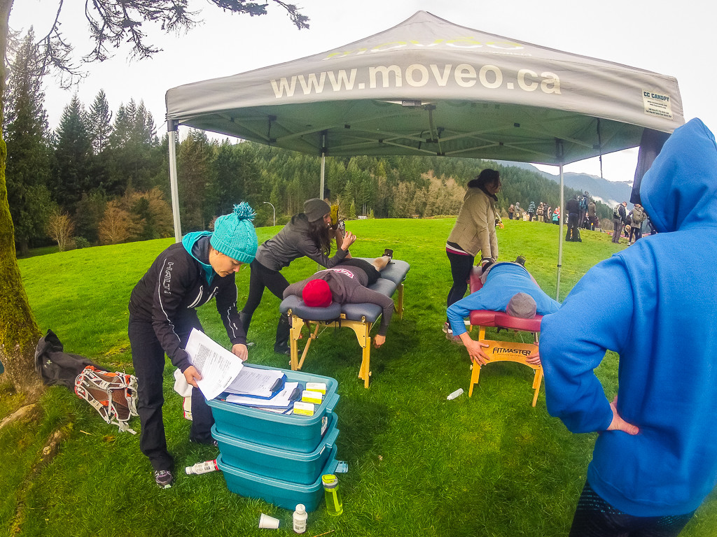 Free Moveo Massage after the race.