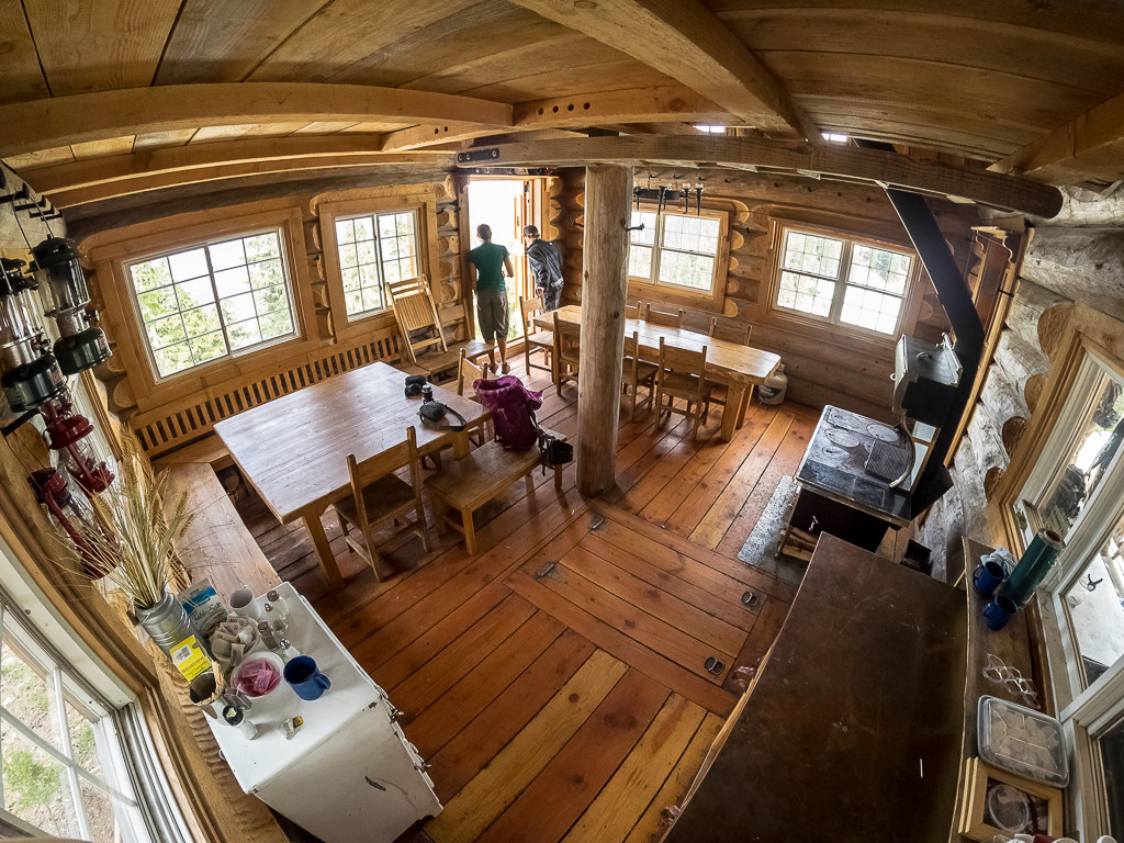 The interior of the Sproatt Mountain cabin