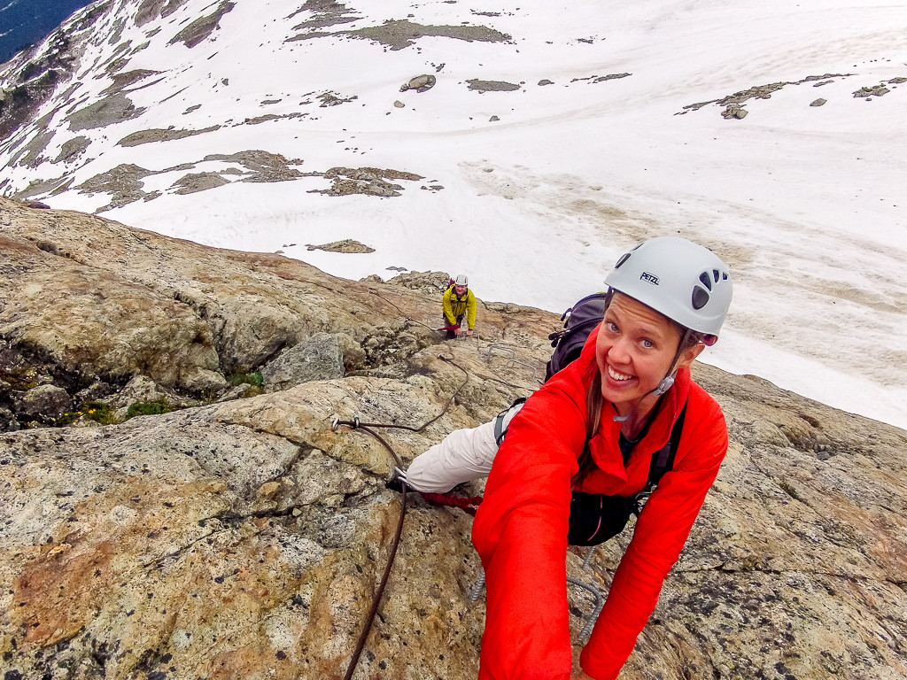 Getting an epic selfie on the Whistler Via Ferrata.
