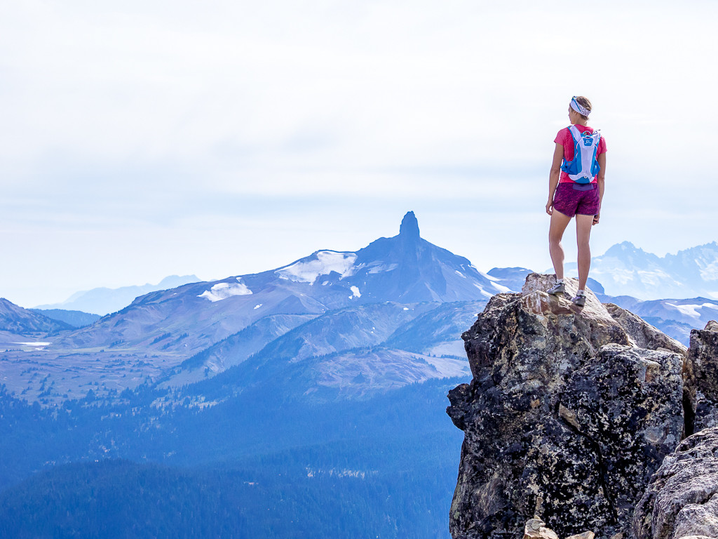 Prepare for the salomon valley to peak race in whistler looking out on the black tusk from whistler peak sciox Choice Image