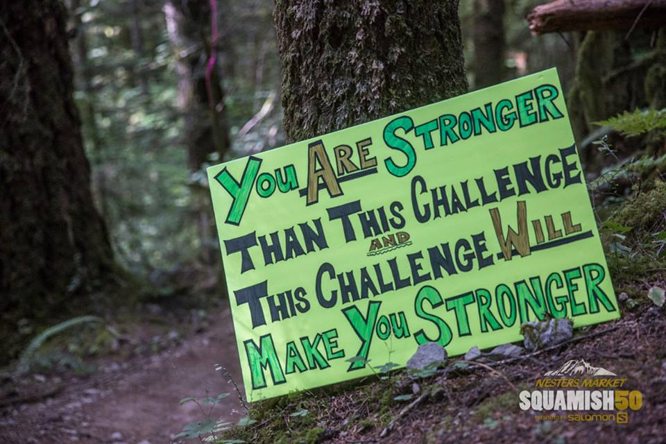 Trail motivation.