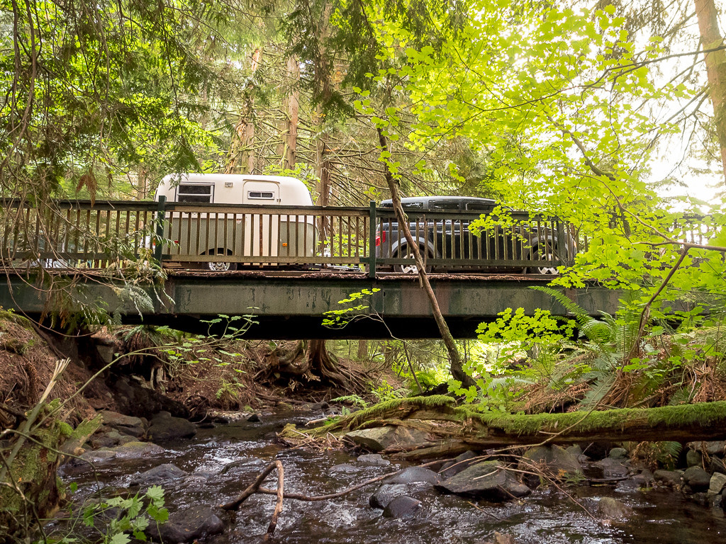 One of the bridges in Wonderland Valley Resort and Campground