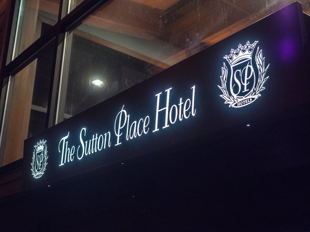 The Entrance to the Sutton Place Hotel