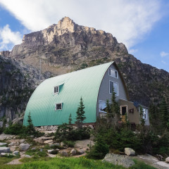 The Conrad Kain Hut in the Bugaboos