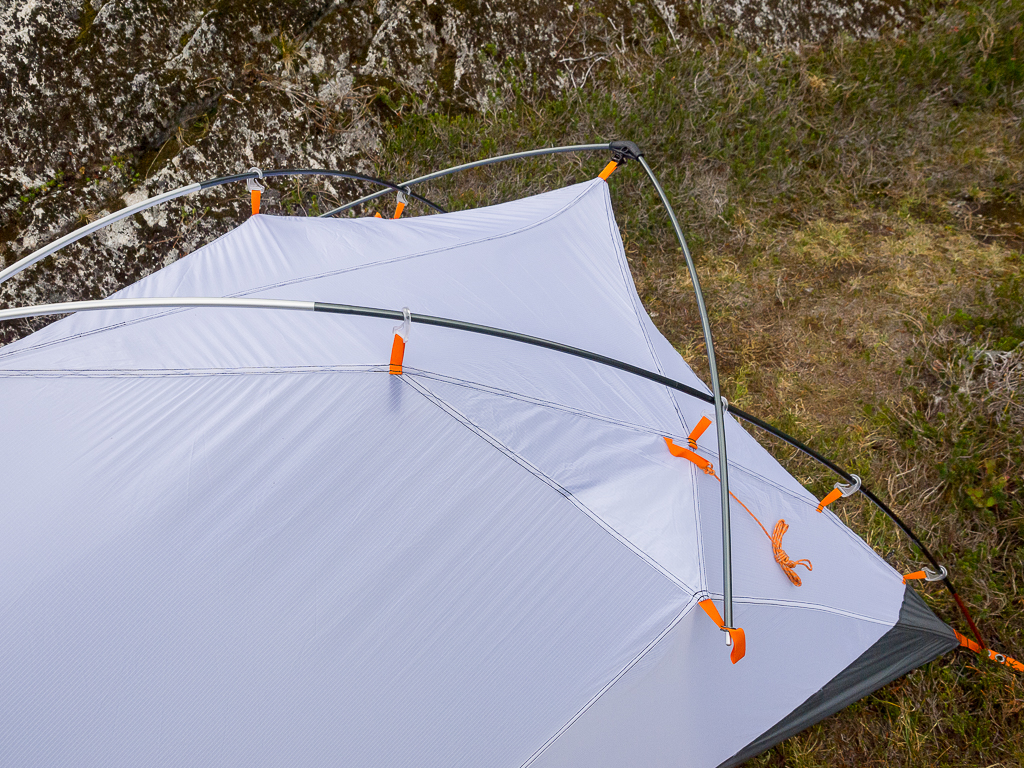 The front brow pole on the tent & Nemo Kunai 2P Mountaineering Tent Review