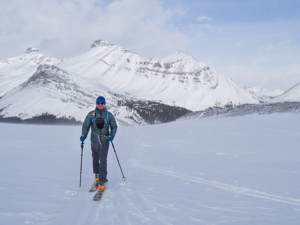 Backcountry skiing with the StretchDown RS Jacket