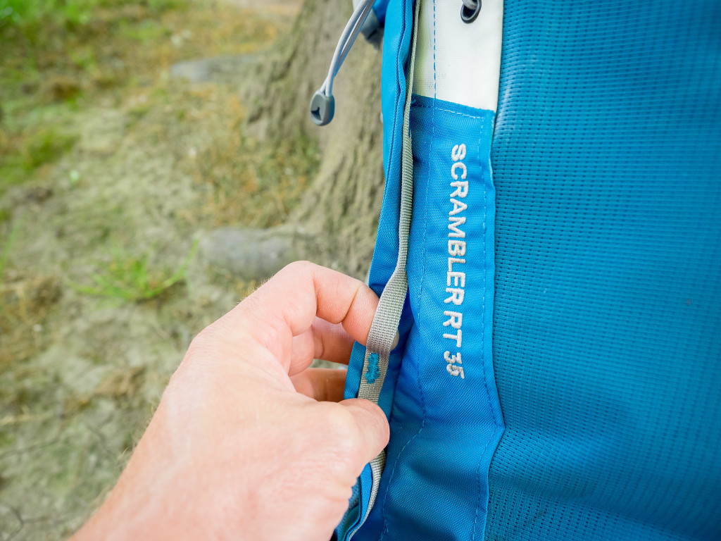 Concealed daisy chain loops allow cord to be added to hold additional items outside of the pack (crampons... etc)
