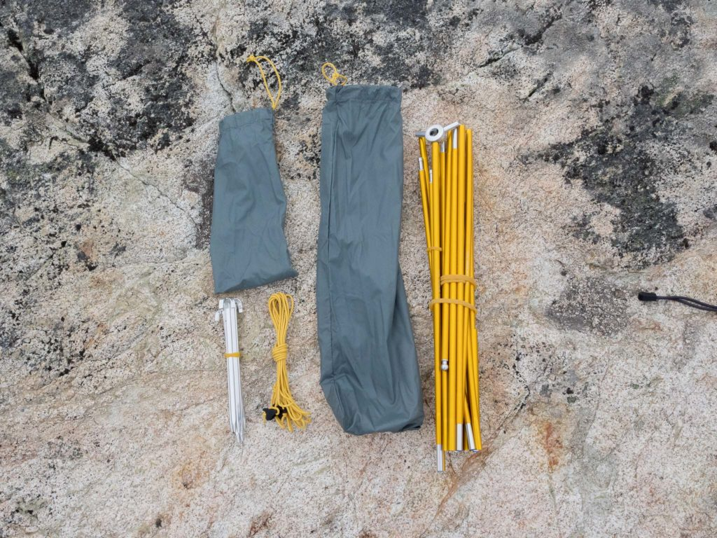 The pole and stake kit with the Ghost UL 2 Tent. I love those tent stakes!