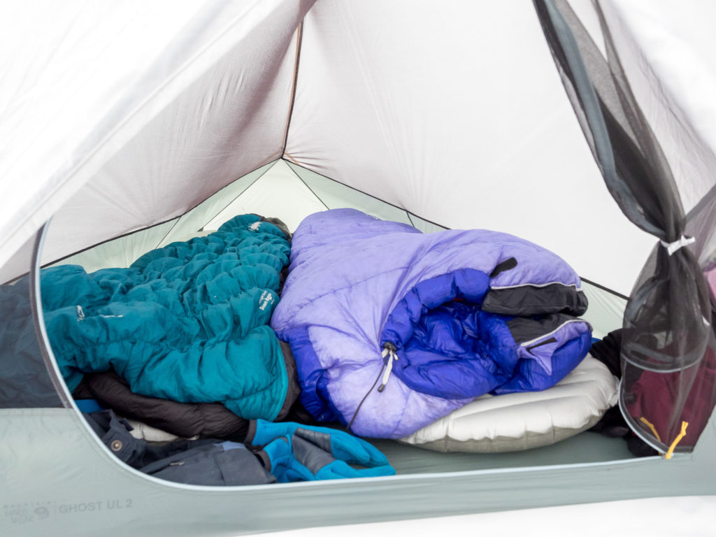 Cozy. Space is definitely at a premium inside. A good amount of space at the feet for packs and gear.