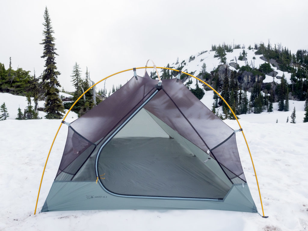 The front door shape of the Ghost UL 2 Tent