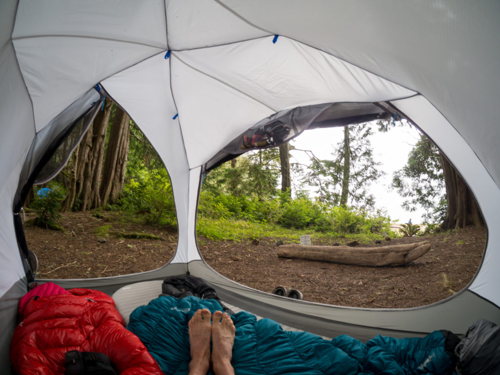 Camping with the OpticVue 2.5 tent
