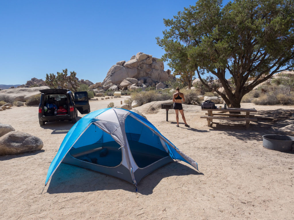 Utilizing the ventilation options in a hot Joshua Tree National Park & Mountain Hardwear OpticVue 2.5 Tent Review