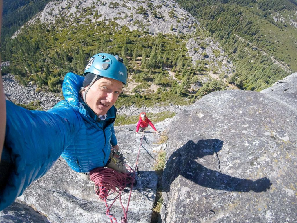 Multi-pitch climbing in the Ghost Whisperer near South Lake Tahoe