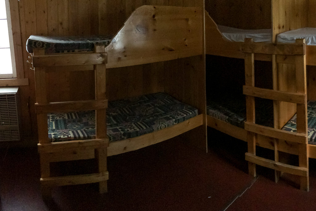 Bunk beds at Rampart Creek