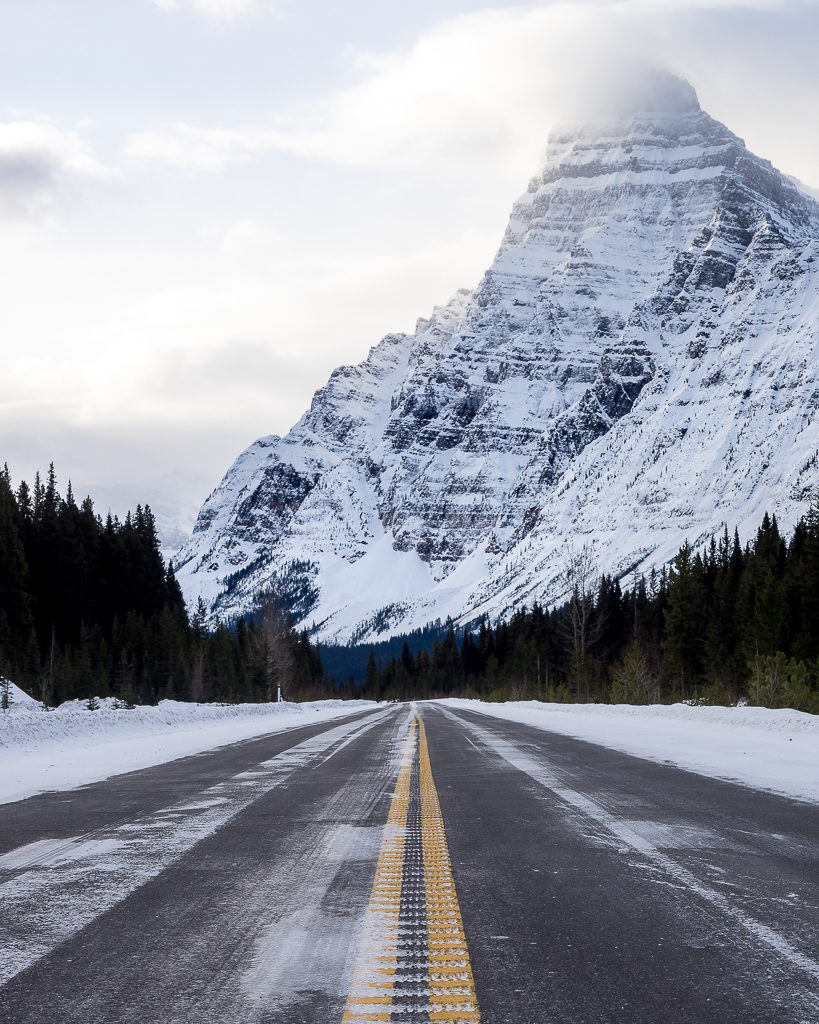 Mount Chephren on the Icefield Parkway