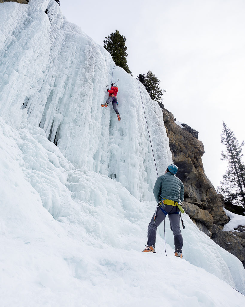 Ice Climbing off the Icefields Parkway